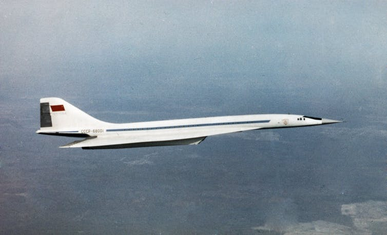 A Russian supersonic jet in flight