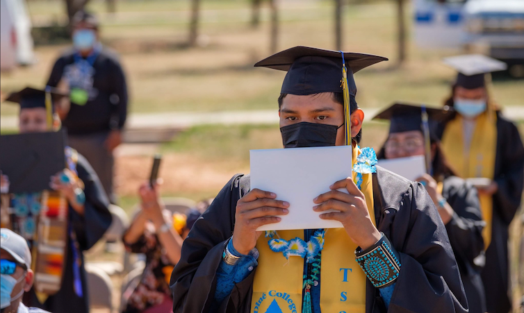 Commencement ceremony at Diné College in May 2021