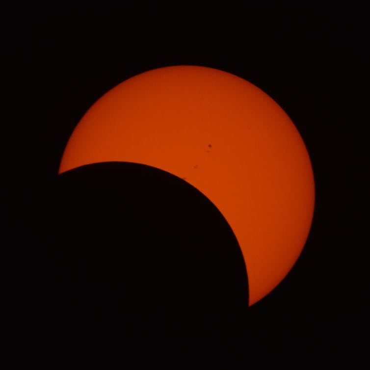 An image of a partial solar eclipse.
