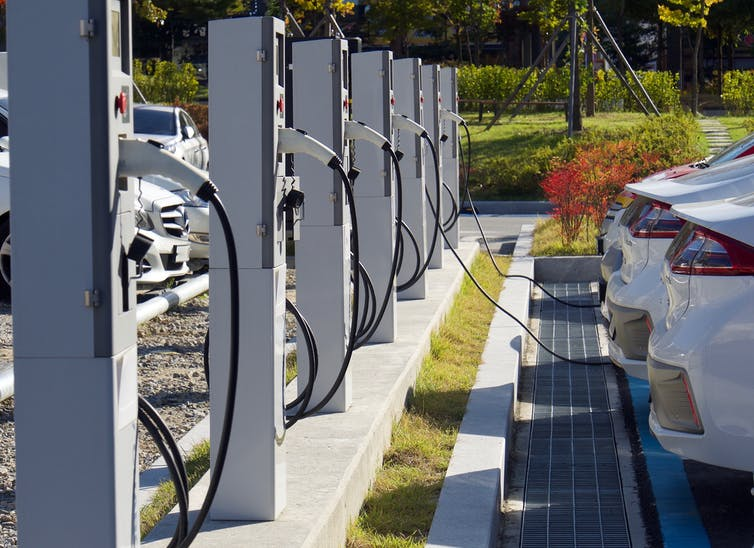 EVs on charge