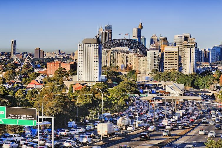 traffic queues in Sydney