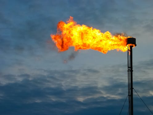 A gas flare.