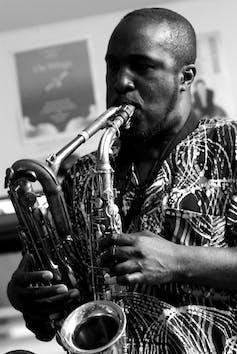 Saxophone player Tony Kofi