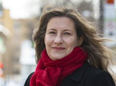 visage en gros plan d'Ariane Mignolet, commissaire à l'éthique