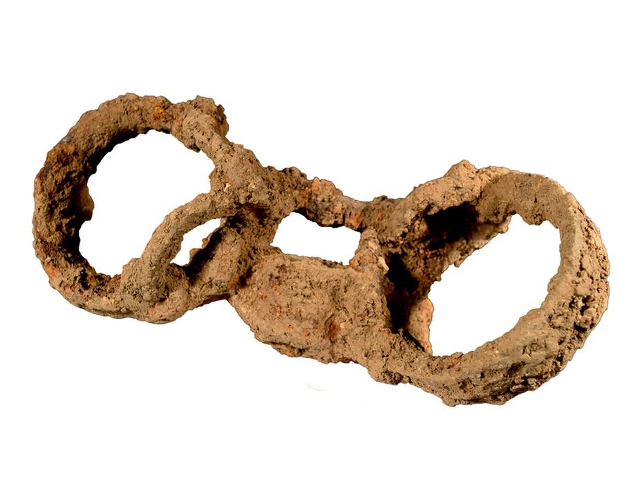 Roman burial shackles