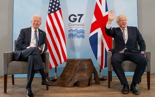 US president Joe Biden and UK prime minister Boris Johnson at the G7 summit