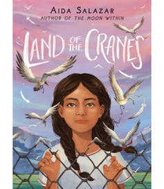 The book cover to 'Land of Cranes'.