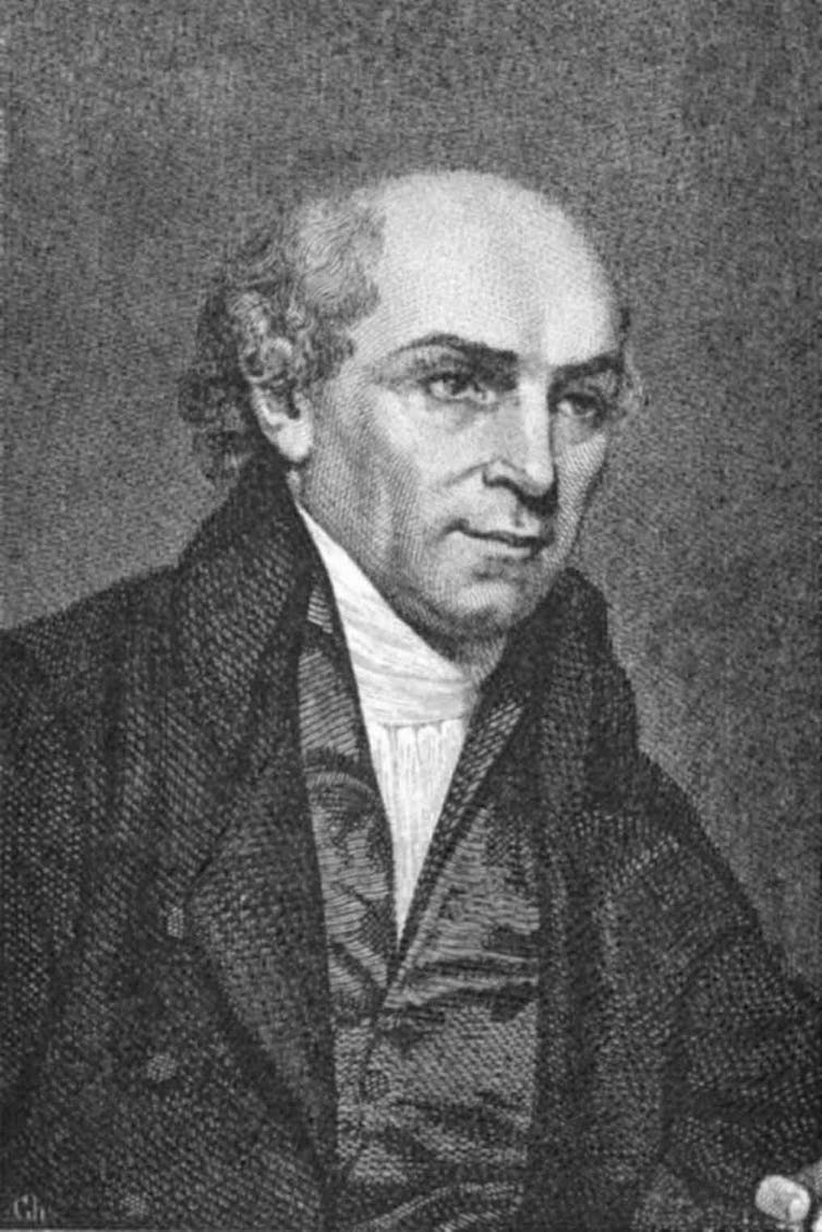 An engraving of shoemaker turn missionary William Carey