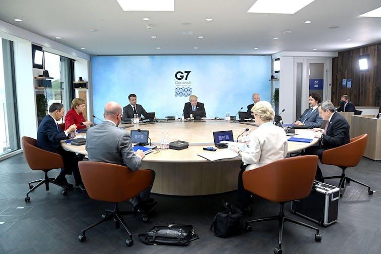 G7 leaders meeting in Cornwall