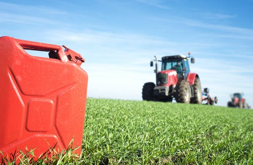 tractor producing biofuels
