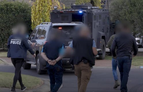 Police arrest suspects in Operation Ironside.