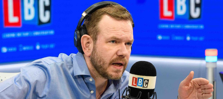 Image of UK radio presenter James O'Brien taken from his Twitter feed.