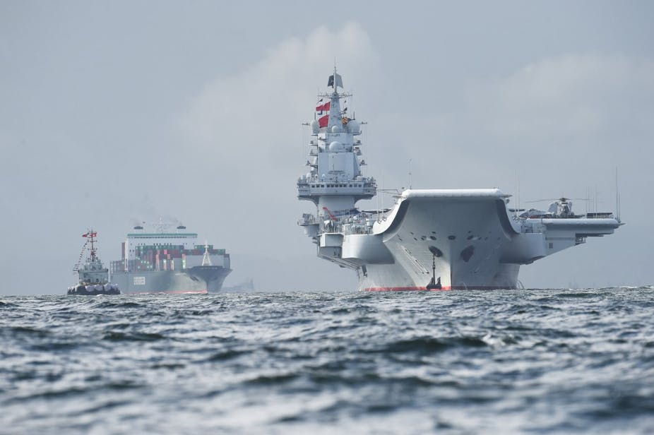 Le porte-avions chinois Liaoning