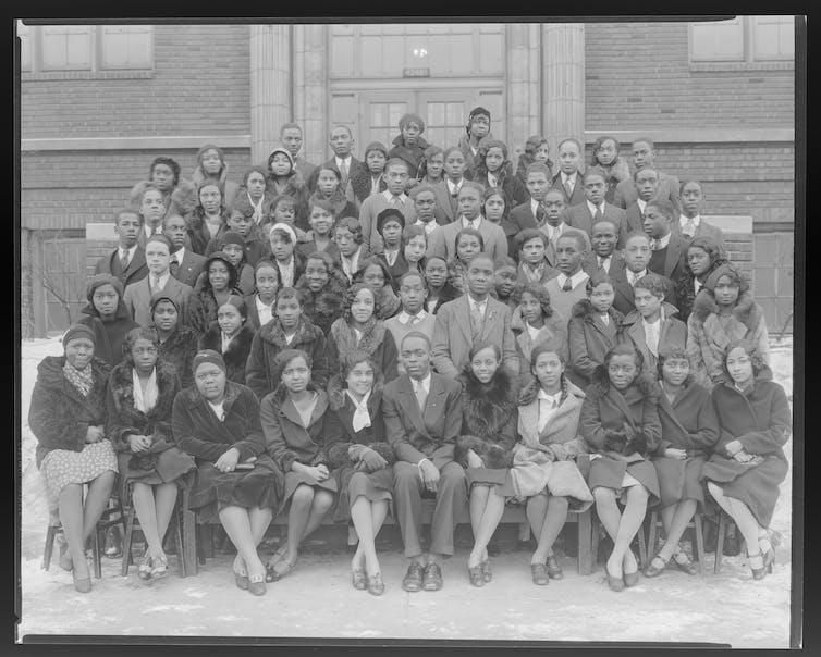 High school class photo from 1931