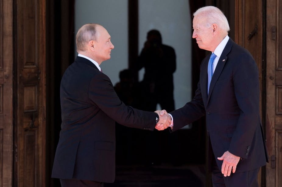 Vladimir Poutine et Joe Biden