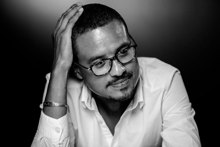 Portrait de l'écrivain franco-sénégalais David Diop