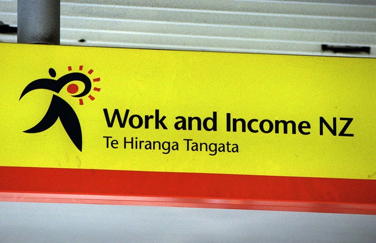 Work and Income office sign