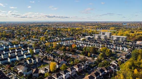 Vue aérienne de la ville de Laval