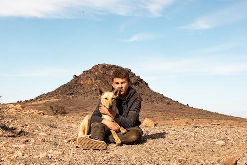 A boy and a dingo