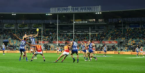 North Melbourne plays Brisbane at Blundstone Arena in Hobart.
