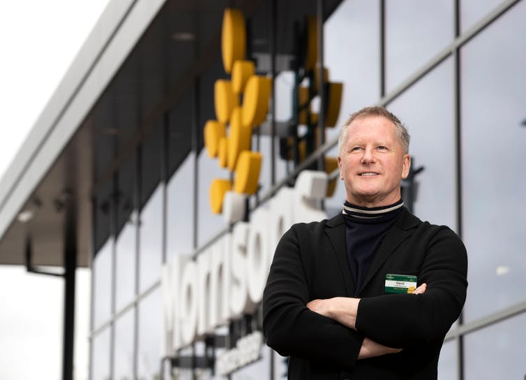 David Potts, Morrisons chief executive, standing outside one of his stores