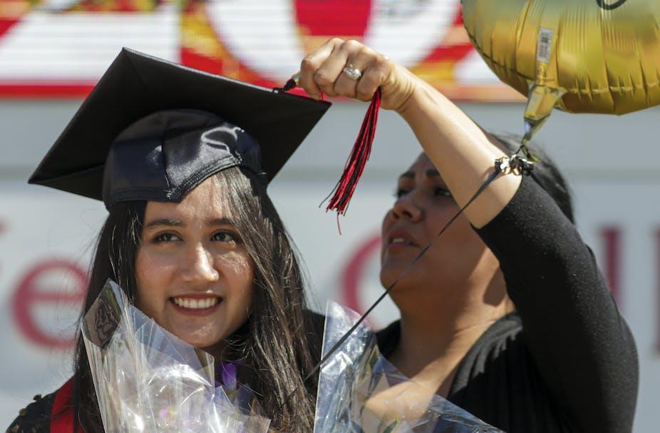 A new graduate of California's Chaffey College