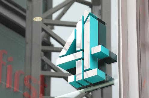Channel 4 sign outside its London headquarters.