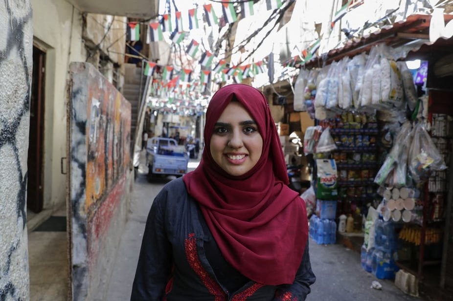 A Palestinian student in a refugee camp in Beirut