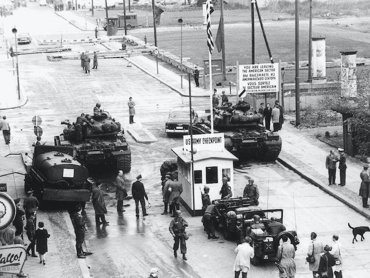 Checkpoint Charlie in 1961