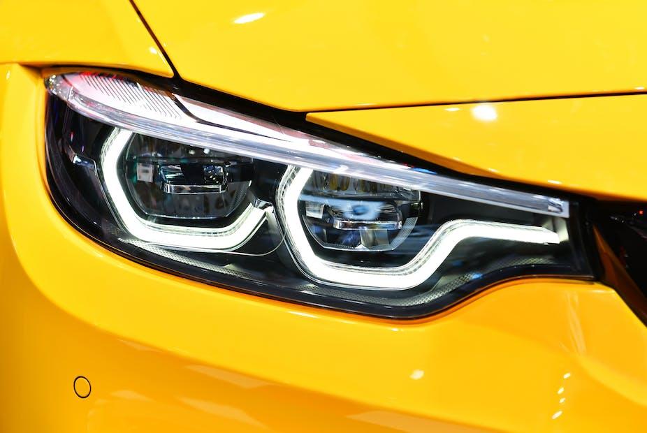 Front headlight of a modern car