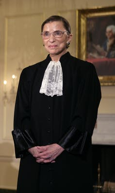 Supreme Court Justice Ruth Bader Ginsburg in 2005.