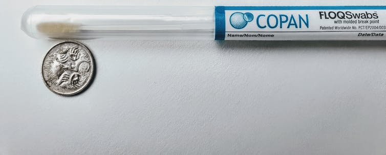 Copan FLOQ Swab used for self-collection cervical screening in the Australian National Cervical Screening Program