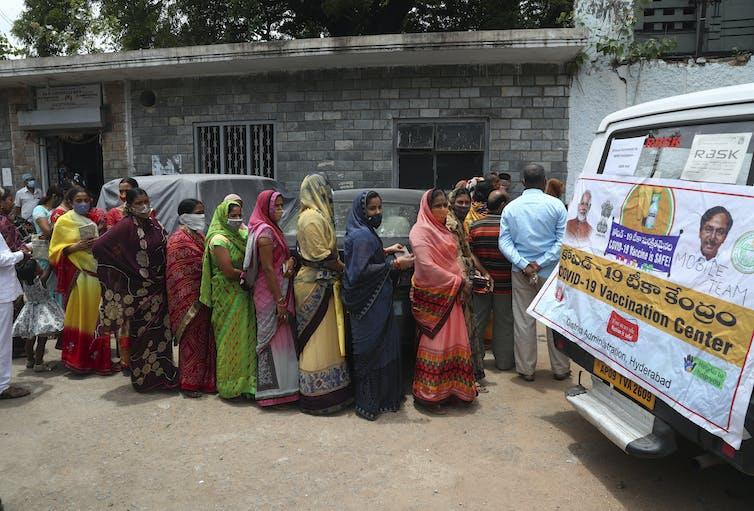 station de vaccination en Inde.