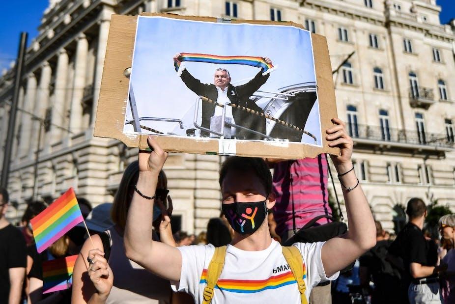 Manifestation de défense des droits des homosexuels à Budapest