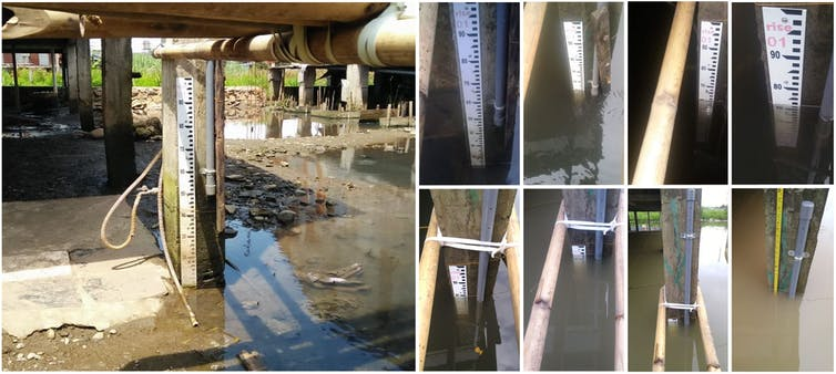 Flood gauges in Makassar