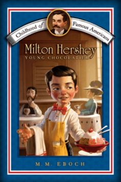 Children's book cover of server in an ice cream parlor