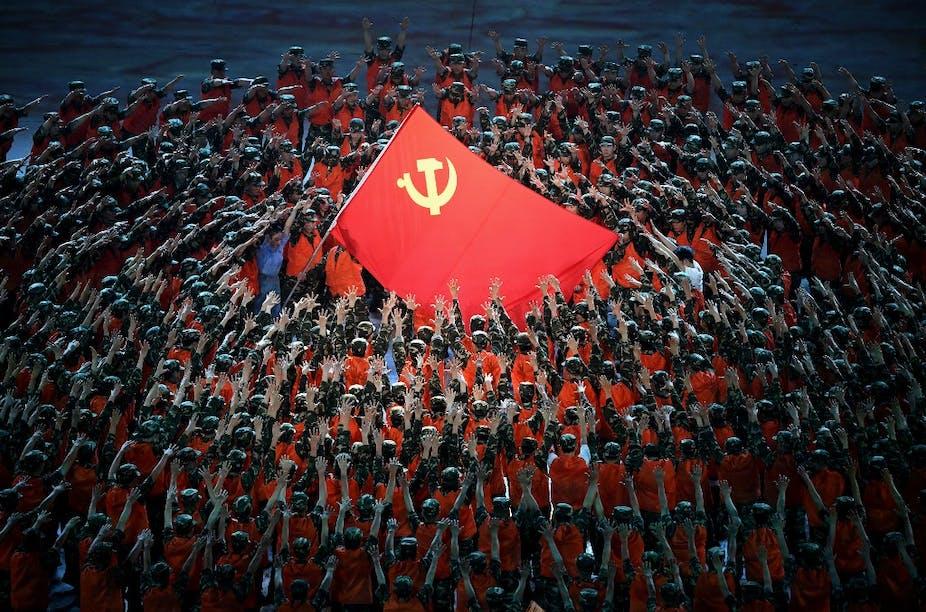 Célébration du centième anniversaire du PCC au stade olympique de Pékin.