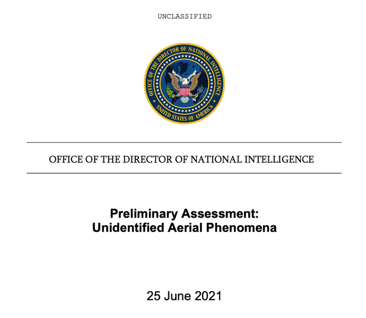 The front page of the report with a U.S. government logo and 'unclassified' listed at the top.