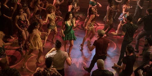 In The Heights production image: dancing in a club.