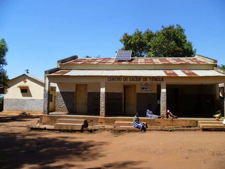 A building against a blue sky