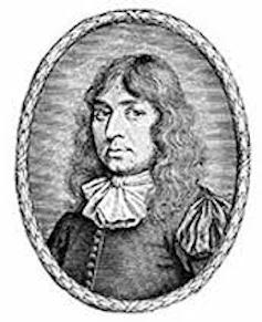 A portrait of the first Baptist minister John Smyth.