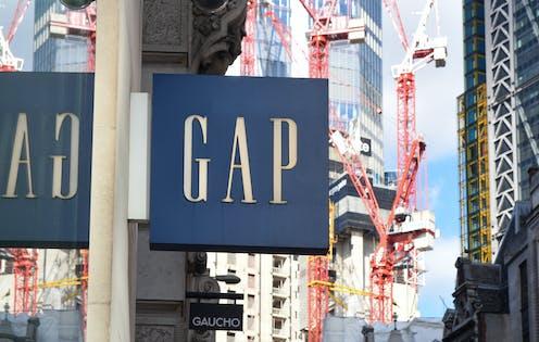 Gap store signage.