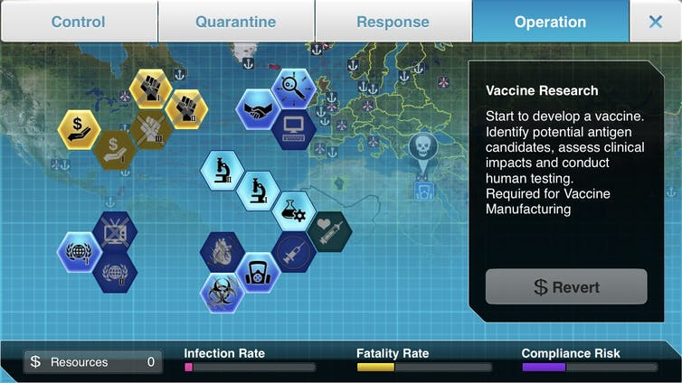 A screenshot from Plague, Inc.: The Cure