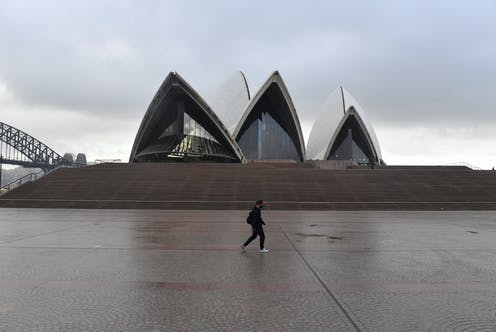 The Sydney Opera House, during lockdown