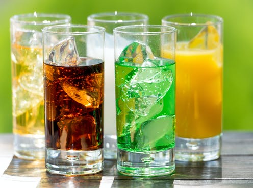 Image of various soft drinks.