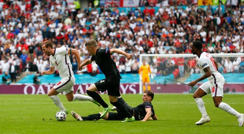 England competes against Germany at the UEFA EURO 2020 in London, on June 29, 2021