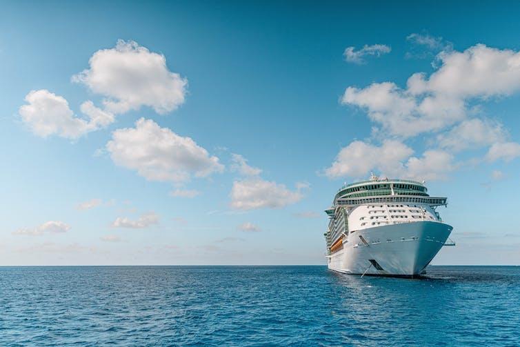 Cruise liner on a still sea