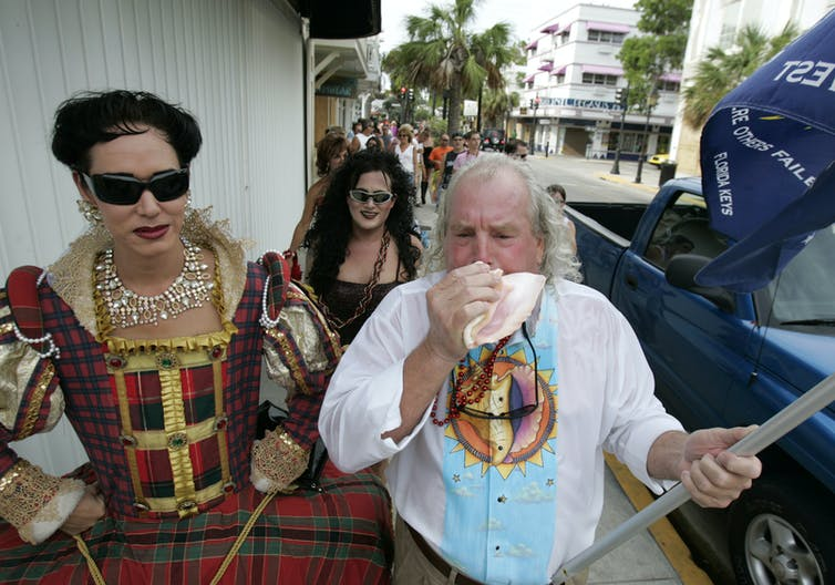 Peter Anderson, the secretary general of the Conch Republic, during a 2005 pub crawl.