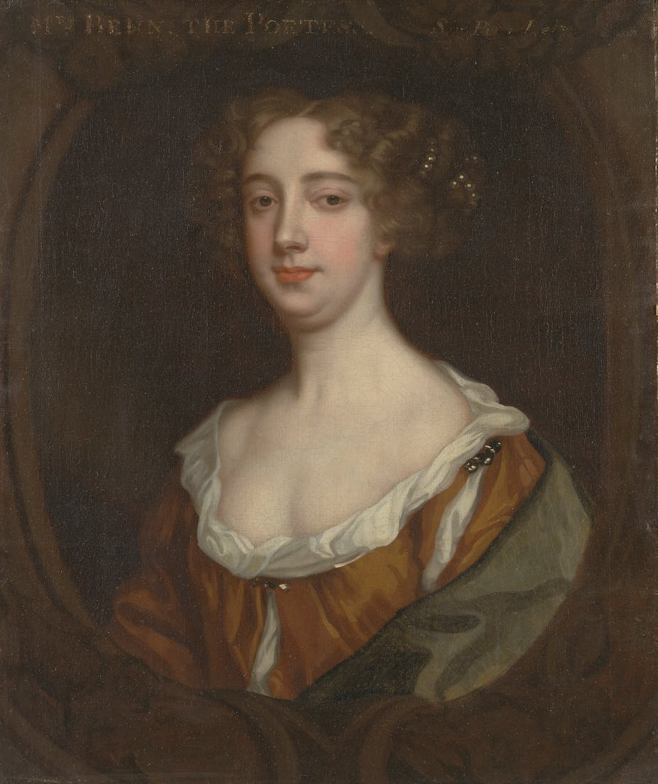 Portrait of the writer Aphra Behn by Sir Peter Lely.