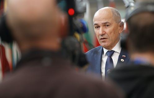 Photo of Slovenian Prime Minister Janez Jansa